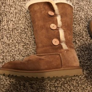Brown Triple Bailey Button UGGS